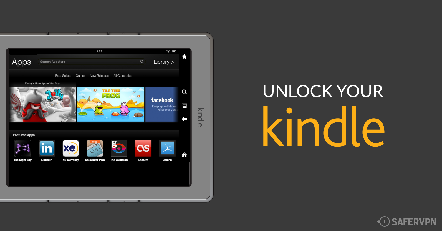 Unlock Your Kindle with a VPN to access Amazon Prime and Kindle Unlimited Outside the US