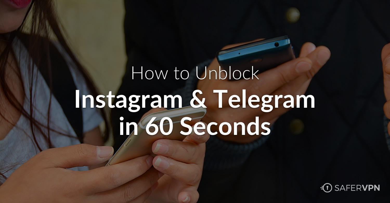 ایران دسترسی به تلگرام را مسدود میکند Unblock Telegram & Instagram