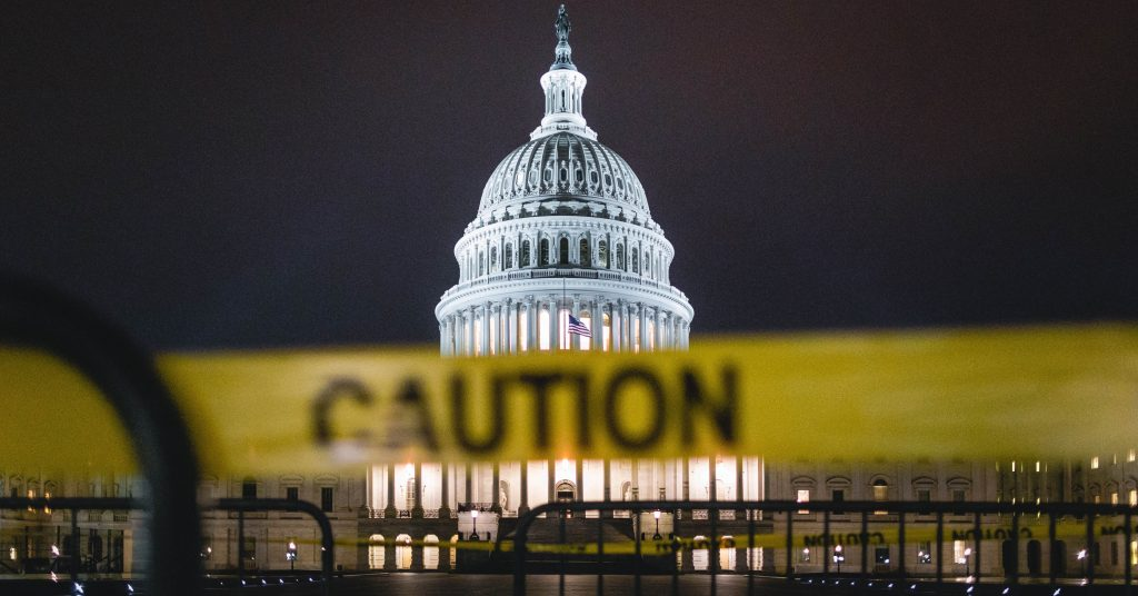 US Capitol Caution Tape